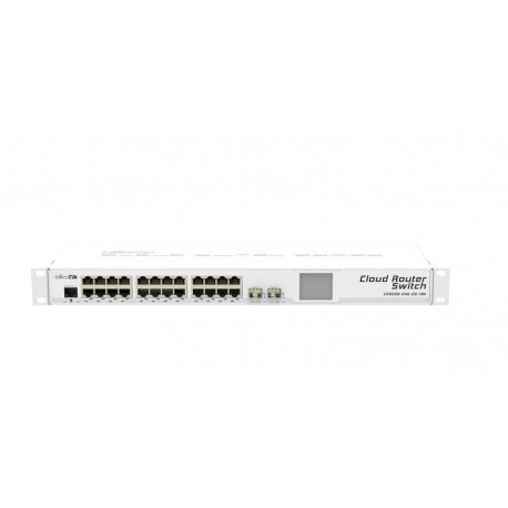 Mikrotik CRS226-24G-2S+RM - The Cloud Router Switch CRS226-24G-2S+ is now available also in a 1U rackmount case.