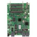 Mikrotik RB433GL - Three miniPCI slots, three Gigabit Ethernet ports and one USB port for storage or a 3G modem.