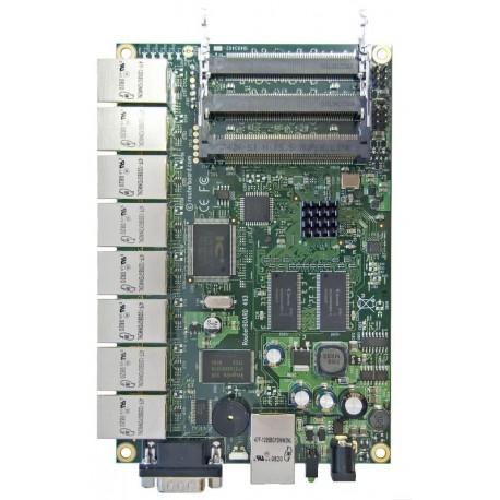 Mikrotik RB493AH - Has nine ethernet ports and three miniPCI slots